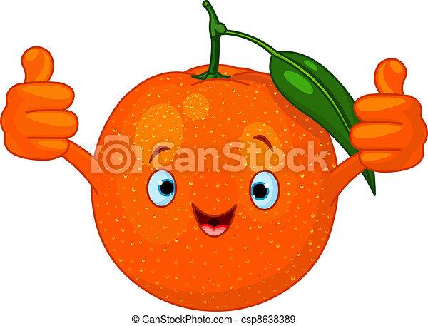 Cheerful Cartoon Orange character - csp8638389