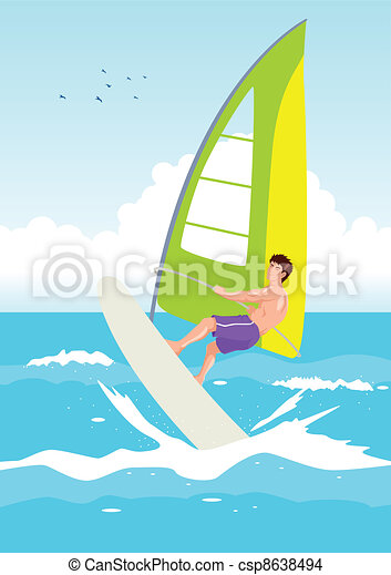 Wind Surfing - csp8638494