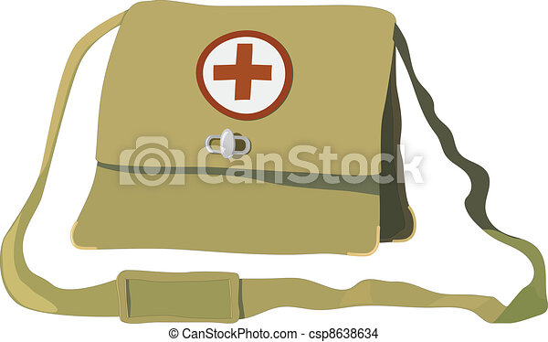 Vector illustration of a nurse bag - csp8638634