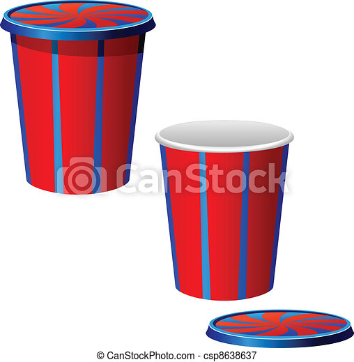 Vector illustration of a plastic cups - csp8638637
