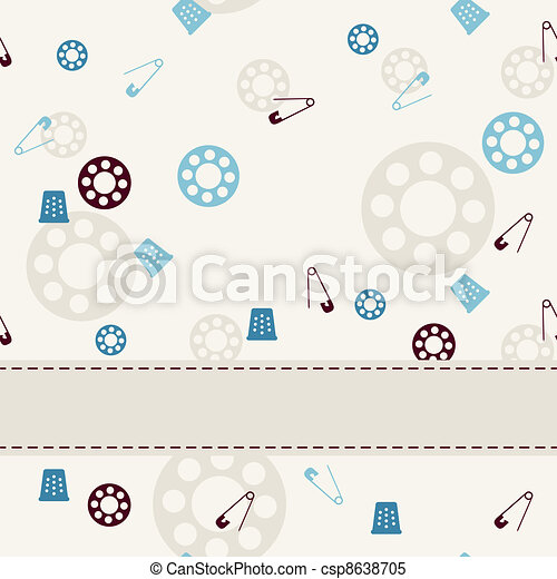Sewing seamless background. - csp8638705