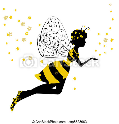 Little Bee Fairy Girl - csp8638963