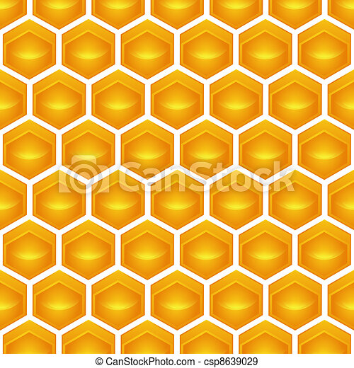 honeycomb Illustration contains a transparency blends/gradients. - csp8639029