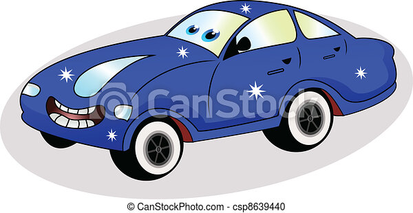 funny blue car - csp8639440