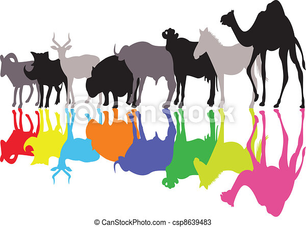 wild animal silhouette - csp8639483