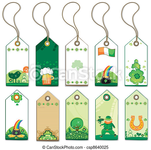 St. Patrick's Day tags. - csp8640025