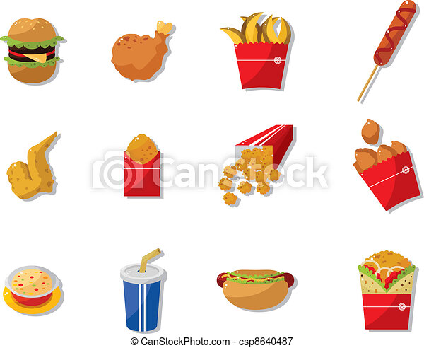 cartoon fast food icon - csp8640487