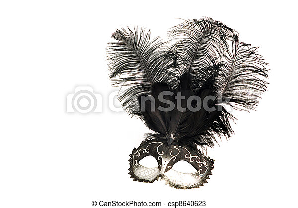 black and white venetian mask - csp8640623