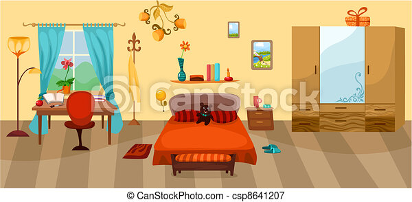 illustrations vectoris es de chambre coucher vecteur illustration de a chambre. Black Bedroom Furniture Sets. Home Design Ideas