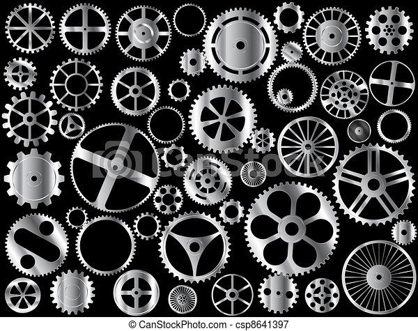 Chrome gears - csp8641397