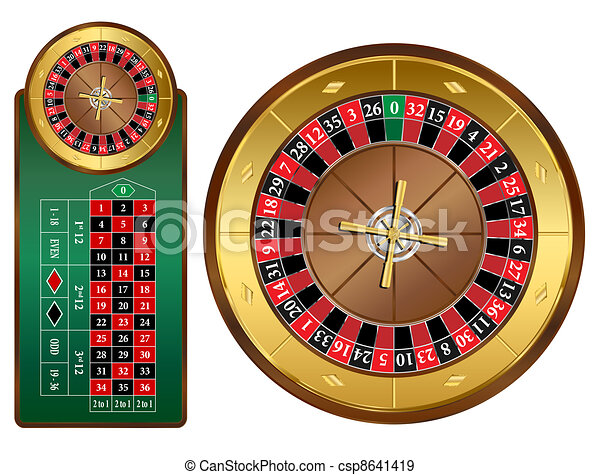 Roulette Wheel - csp8641419