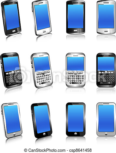 Three types of phones in 2D and 3D - csp8641458