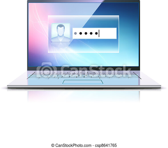 computer security concept - csp8641765