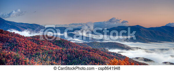 Blue Ridge Panoramic - csp8641948