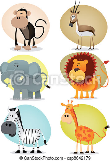 African Jungle Animals Collection - csp8642179