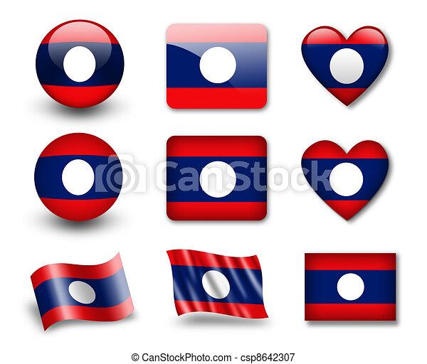 The Laotian flag - csp8642307