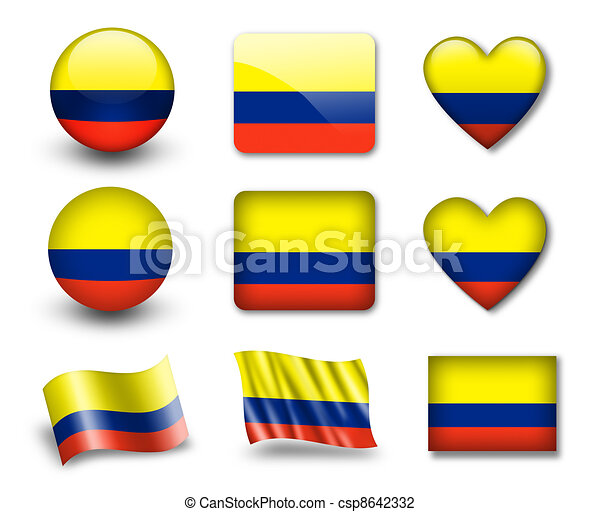 The Colombian flag - csp8642332