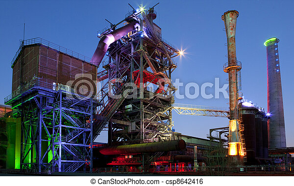 steel industry blast furnace - csp8642416