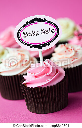 Cupcakes for a bake sale - csp8642501