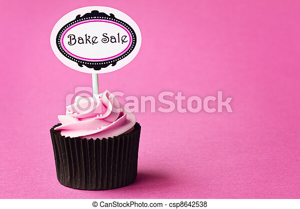Bake sale cupcake - csp8642538