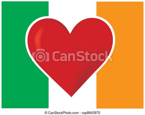 Heart Irish Flag - csp8643970