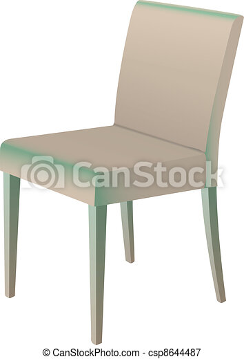 Dining chair vector illustration isolated on white - csp8644487