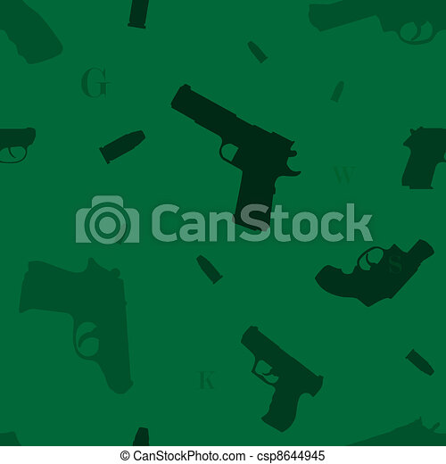 Seamless guns pattern green - csp8644945