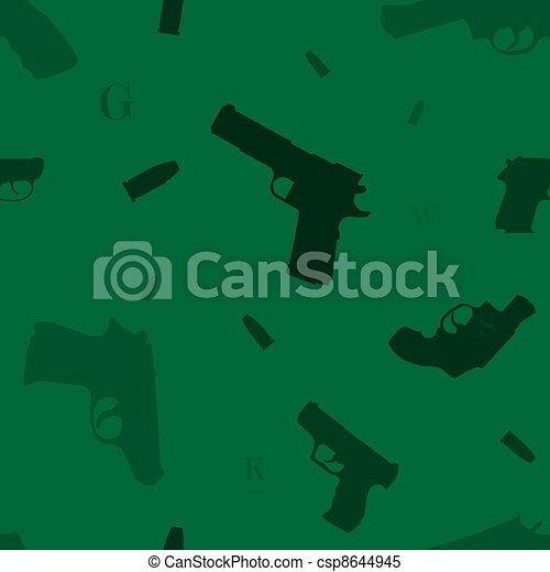 Seamless guns pattern green - csp8644945