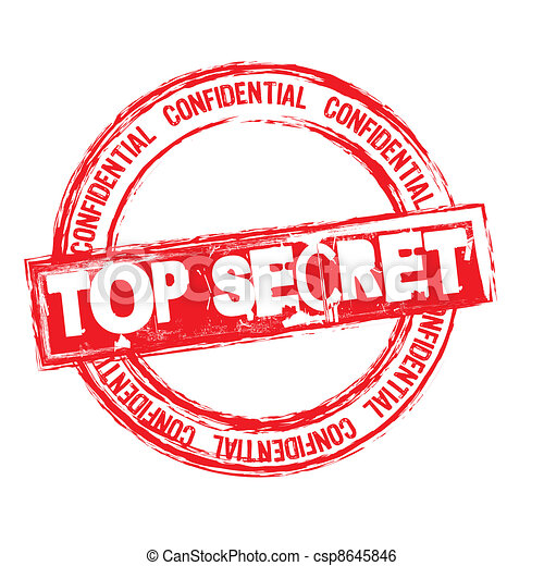 top secret stamp - csp8645846