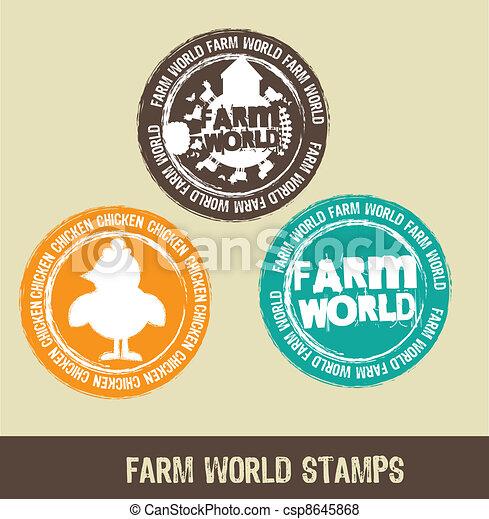 farm stamps - csp8645868