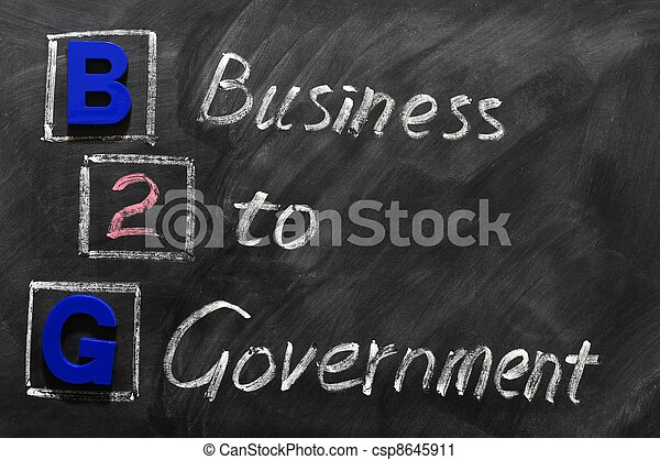 Acronym of B2G - Business to government - csp8645911