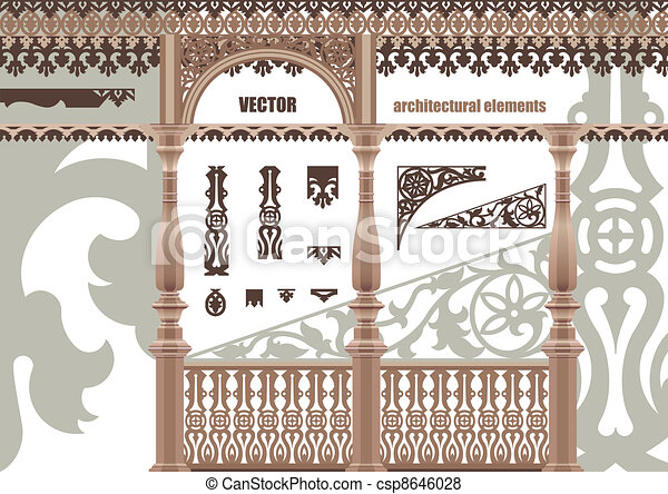 Vector carved architectural element - csp8646028