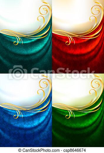 Set color fabric curtain - csp8646674