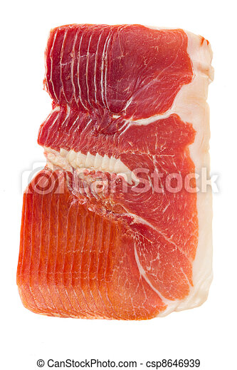 jamon serrano - cured ham - csp8646939