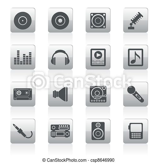 Music and sound icons  - csp8646990