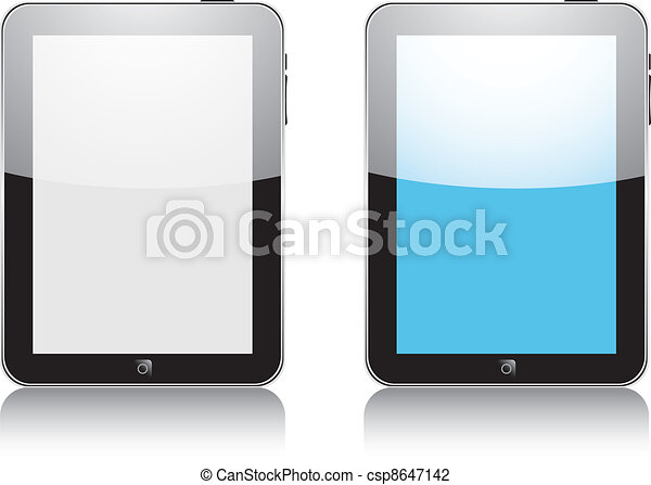 Vector concept tablet  PS, IPAD. No transparency effects. EPS8 Only - csp8647142