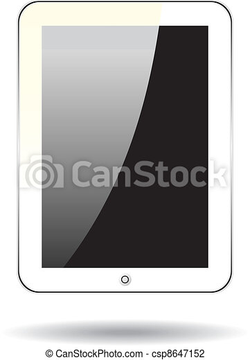 Vector concept tablet  PS, IPAD. No transparency effects. EPS8 Only - csp8647152