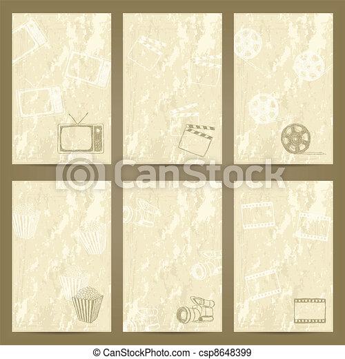 grunge cards - csp8648399