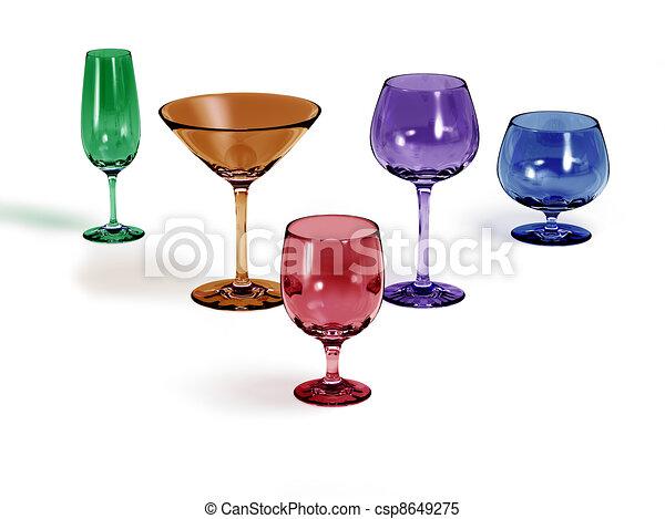 Five different colored glasses - csp8649275
