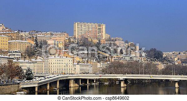 Lyon Croix Rousse and Rh?ne river - csp8649602