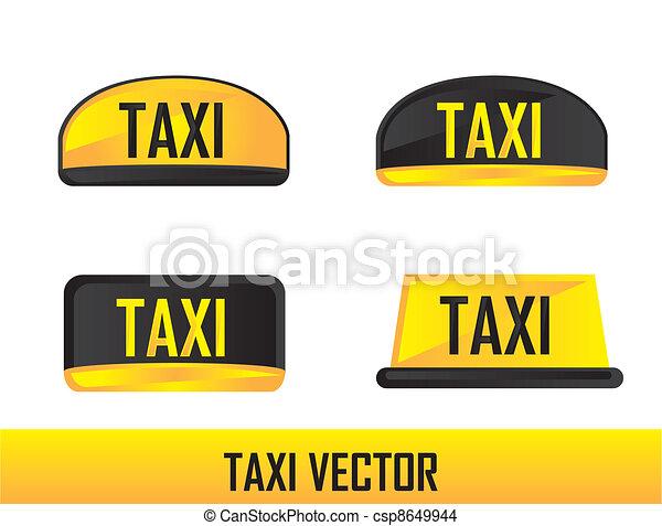 taxi, vector - csp8649944