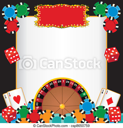 Casino Night Party Event Invitation - csp8650759