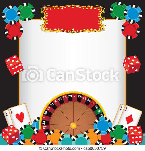 Casino Night Party Event Invitation - csp8650759
