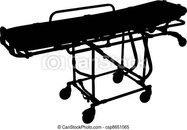 Stretchers silhouette isolated on white - csp8651065