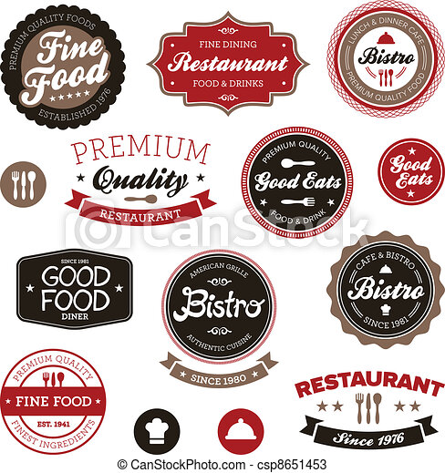 Vintage restaurant labels - csp8651453