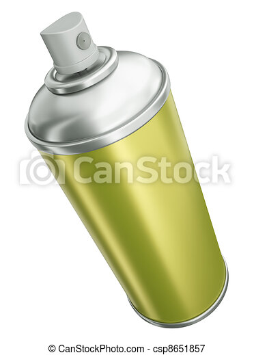 Yellow spray can - csp8651857