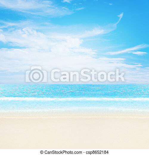 Tranquil tropical beach - csp8652184