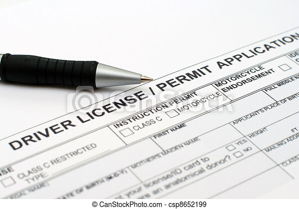 Driver license application - csp8652199