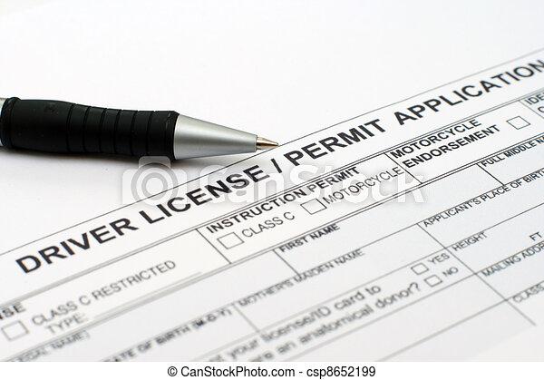 Driver license application  - csp8652199