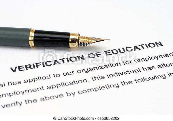 Verification of education  - csp8652202